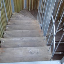 Exterior feature staircase restoration - sanded